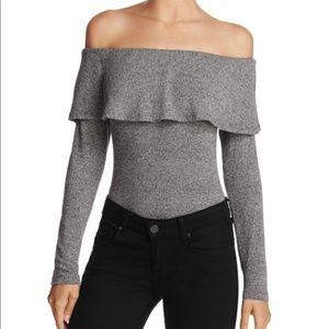 Zara Ruffle Off the Shoulder Bodysuit